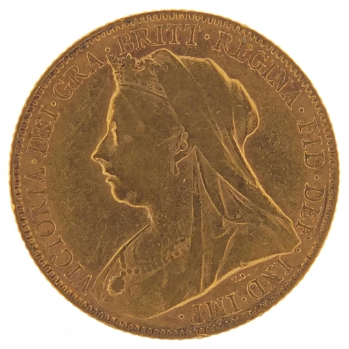 358 - Queen Victoria 1900 gold sovereign - this lot is sold without buyer's premium, the hammer price is t...