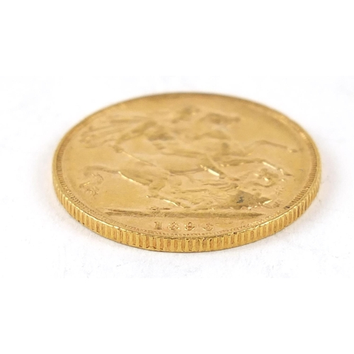 331 - Queen Victoria 1896 gold sovereign - this lot is sold without buyer's premium, the hammer price is t...