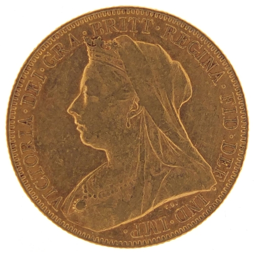 343 - Queen Victoria 1899 gold sovereign - this lot is sold without buyer's premium, the hammer price is t...