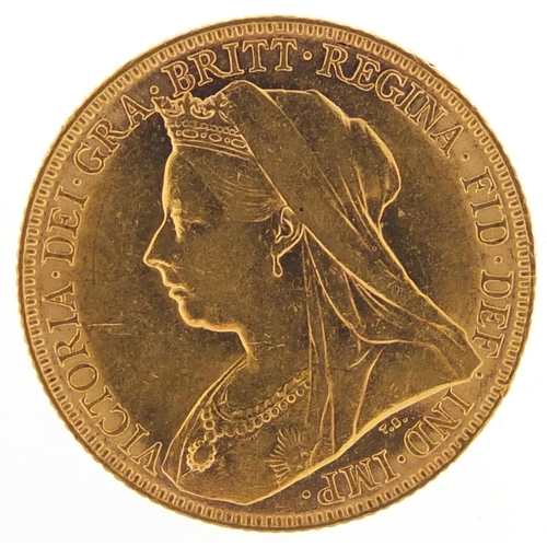 347 - Queen Victoria 1899 gold sovereign, Melbourne mint - this lot is sold without buyer's premium, the h...
