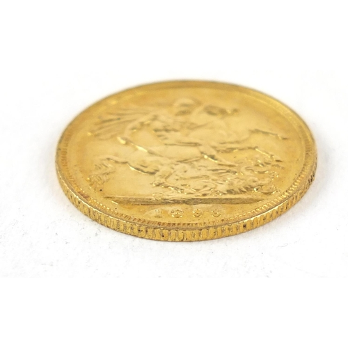 359 - Queen Victoria 1893 gold half sovereign - this lot is sold without buyer's premium, the hammer price...