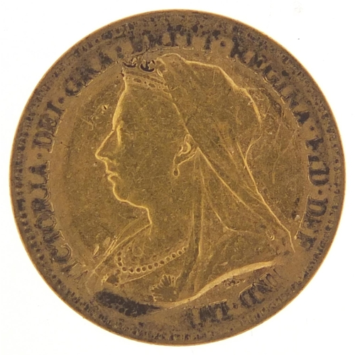 335 - Queen Victoria 1893 gold half sovereign - this lot is sold without buyer's premium, the hammer price...