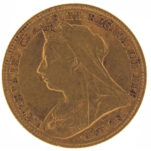 345 - Queen Victoria 1896 gold half sovereign - this lot is sold without buyer's premium, the hammer price...