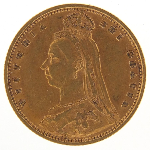 349 - Queen Victoria Jubilee Head 1892 gold half sovereign - this lot is sold without buyer's premium, the...