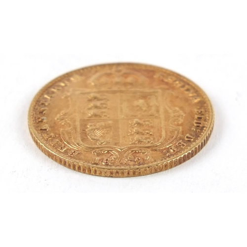 355 - Queen Victoria Jubilee Head 1892 gold half sovereign - this lot is sold without buyer's premium, the...