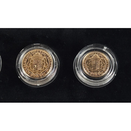 365 - 500th Anniversary of the First Gold Sovereign, 1489-1989 gold proof sovereign collection with box an...