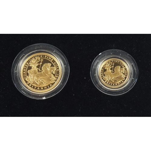 305 - Elizabeth II 1997 Britannia gold proof collection with box and certificate numbered 0178, comprising...