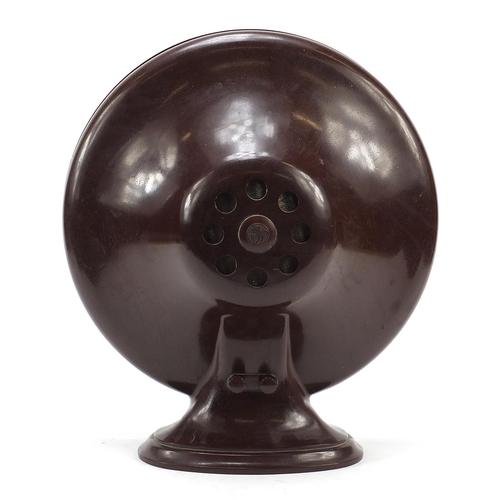 8 - BTH, Art Deco brown Bakelite speaker, 37.5cm high...