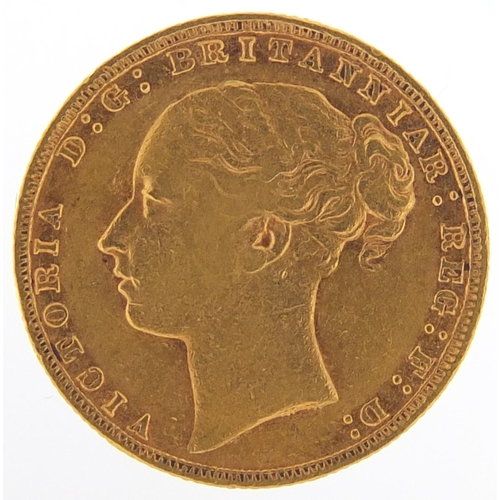 153 - Victoria Young Head 1878 gold sovereign with fitted case - this lot is sold without buyer's premium,...