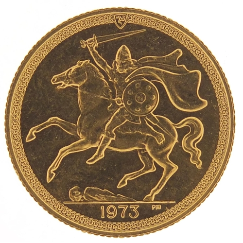 162 - Isle of Man Elizabeth II 1973 gold sovereign - this lot is sold without buyer's premium, the hammer ...