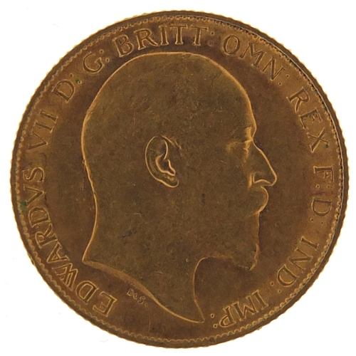 163 - Edward VII 1908 gold half sovereign - this lot is sold without buyer's premium, the hammer price is ...