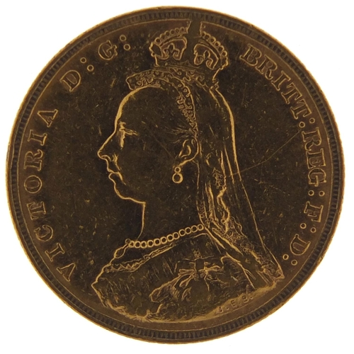 167 - Queen Victoria Jubilee Head 1887 gold sovereign, Melbourne Mint - this lot is sold without buyer's p...