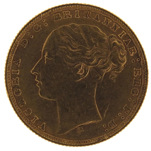 173 - Victoria Young Head 1874 gold sovereign, Melbourne Mint - this lot is sold without buyer's premium, ...