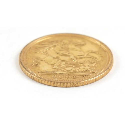 174 - Elizabeth II 2001 gold half sovereign - this lot is sold without buyer's premium, the hammer price i...