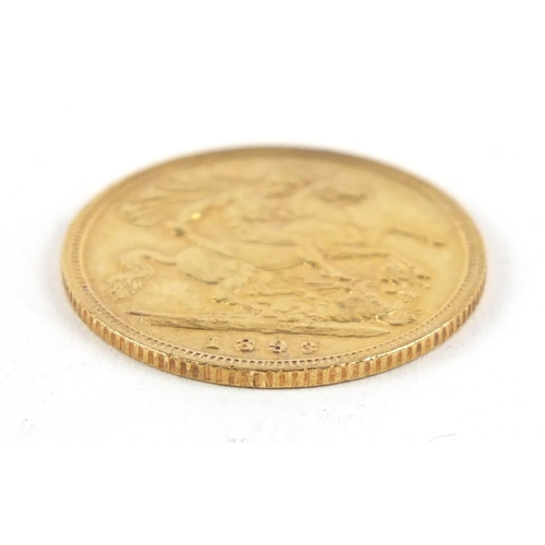 175 - Queen Victoria 1893 gold half sovereign - this lot is sold without buyer's premium, the hammer price...