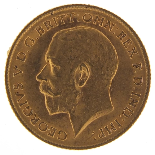 178 - George V 1911 gold half sovereign - this lot is sold without buyer's premium, the hammer price is th...