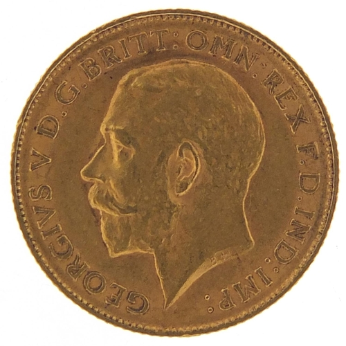 181 - George V 1911 gold half sovereign - this lot is sold without buyer's premium, the hammer price is th...
