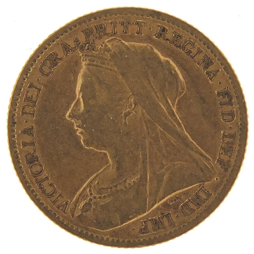 187 - Queen Victoria 1900 gold half sovereign - this lot is sold without buyer's premium, the hammer price...