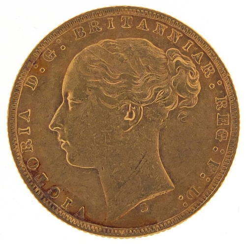 188 - Victoria Young Head 1873 gold sovereign, Sydney mint - this lot is sold without buyer's premium, the...