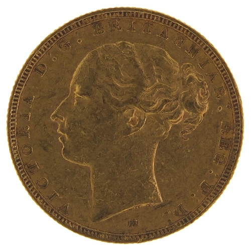 191 - Victoria Young Head 1880 gold sovereign, Melbourne Mint - this lot is sold without buyer's premium, ...