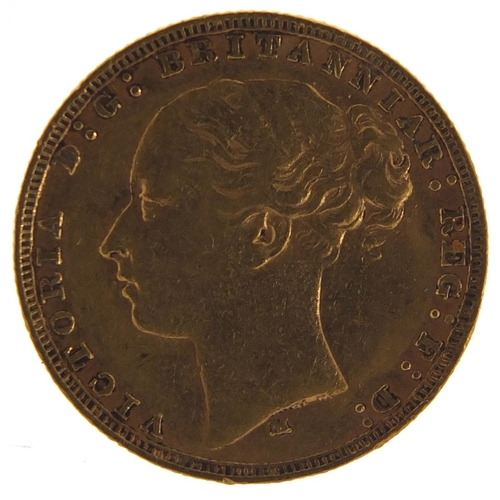 193 - Victoria Young Head 1879 gold sovereign, Melbourne Mint - this lot is sold without buyer's premium, ...