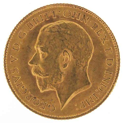 194 - George V 1911 gold half sovereign - this lot is sold without buyer's premium, the hammer price is th...
