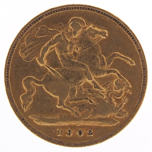 Edward VII 1902 gold half sovereign - this lot is sold without buyer's premium, the hammer price is the price you pay