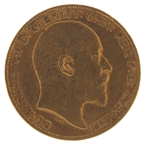 195 - Edward VII 1902 gold half sovereign - this lot is sold without buyer's premium, the hammer price is ...