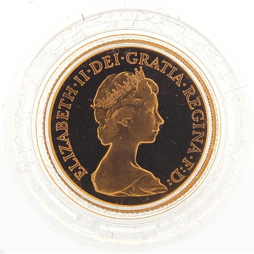 196 - Elizabeth II 1981 gold proof sovereign with fitted case and certificate - this lot is sold without b...
