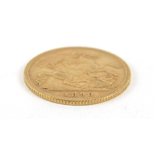 198 - Queen Victoria 1898 gold half sovereign - this lot is sold without buyer's premium, the hammer price...