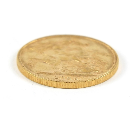 201 - Victoria Young Head 1886 gold sovereign, Melbourne Mint - this lot is sold without buyer's premium, ...