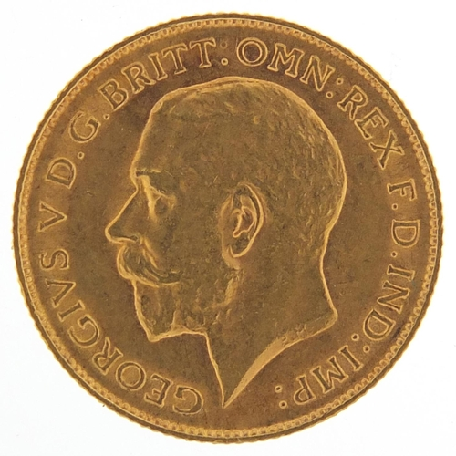 203 - George V 1911 gold half sovereign - this lot is sold without buyer's premium, the hammer price is th...