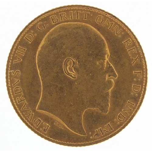 205 - Edward VII 1906 gold half sovereign - this lot is sold without buyer's premium, the hammer price is ...