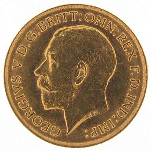 207 - George V 1914 gold half sovereign - this lot is sold without buyer's premium, the hammer price is th...