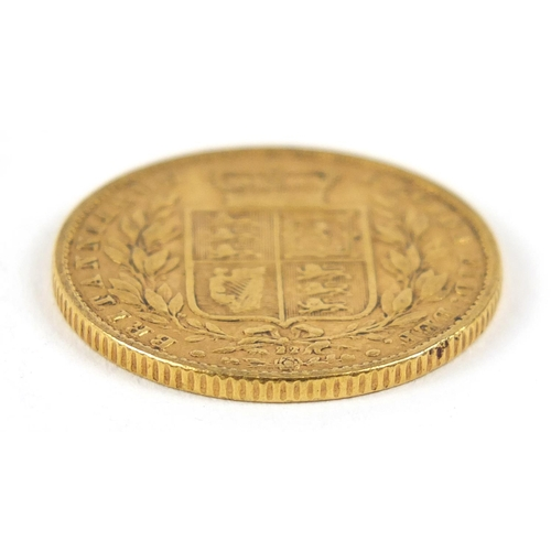 172 - Victoria Young Head 1866 shield back gold sovereign - this lot is sold without buyer's premium, the ...