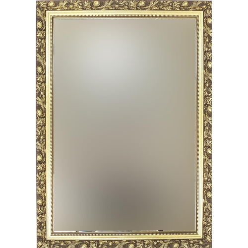 Rectangular gilt framed wall mirror, 87cm x 61cm