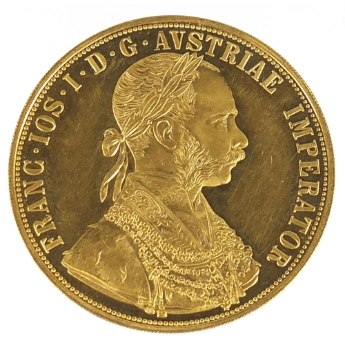 480 - Austrian 1915 gold four ducat, 14.0g - this lot is sold without buyer's premium, the hammer price is...