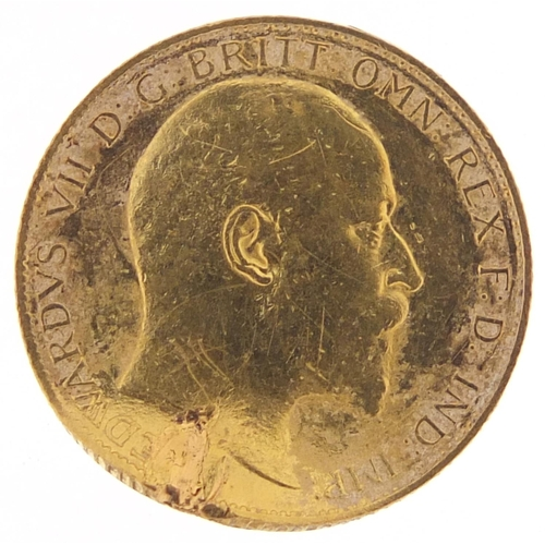 511 - Edward VII 1902 gold half sovereign - this lot is sold without buyer's premium, the hammer price is ...