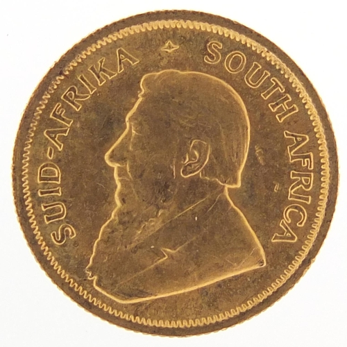 515 - South African 1984 gold 1/10th Krugerrand - this lot is sold without buyer's premium, the hammer pri...