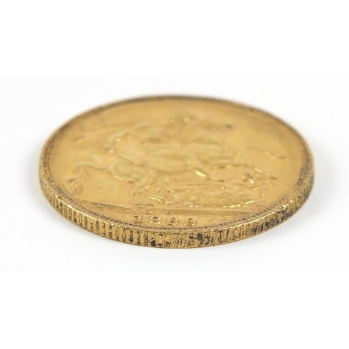 492 - Queen Victoria 1899 gold sovereign, Sydney Mint - this lot is sold without buyer's premium, the hamm...