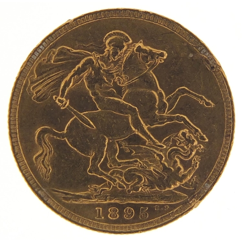 488 - Queen Victoria 1895 gold sovereign - this lot is sold without buyer's premium, the hammer price is t...