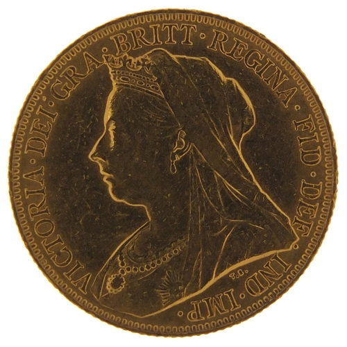 496 - Queen Victoria 1898 gold sovereign - this lot is sold without buyer's premium, the hammer price is t...