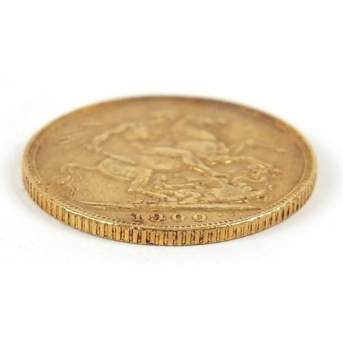 486 - Queen Victoria 1900 gold sovereign - this lot is sold without buyer's premium, the hammer price is t...
