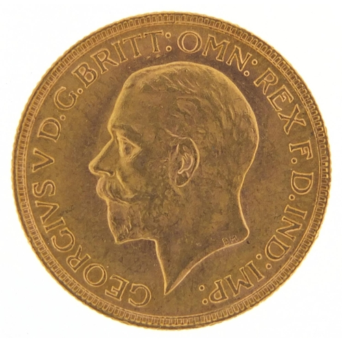 526 - George V 1930 gold sovereign, South Africa mint - this lot is sold without buyer's premium, the hamm...