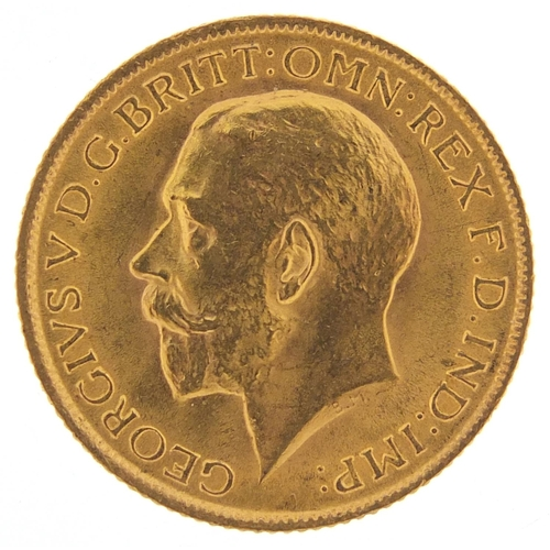 519 - George V 1915 gold sovereign - this lot is sold without buyer's premium, the hammer price is the pri...