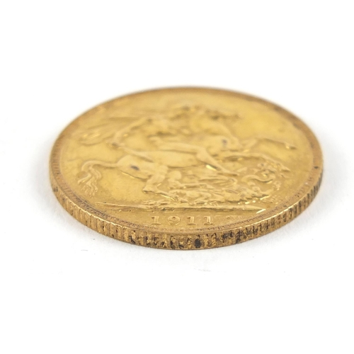 504 - George V 1911 gold sovereign - this lot is sold without buyer's premium, the hammer price is the pri...