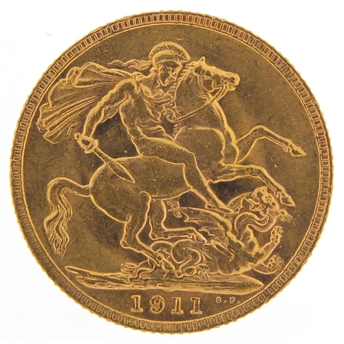 481 - George V 1911 gold sovereign - this lot is sold without buyer's premium, the hammer price is the pri...