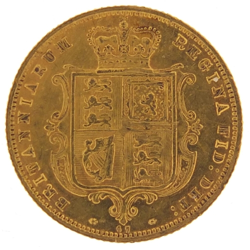 Victoria Young Head 1878 shield back gold half sovereign - this lot is sold without buyer's premium, the hammer price is the price you pay