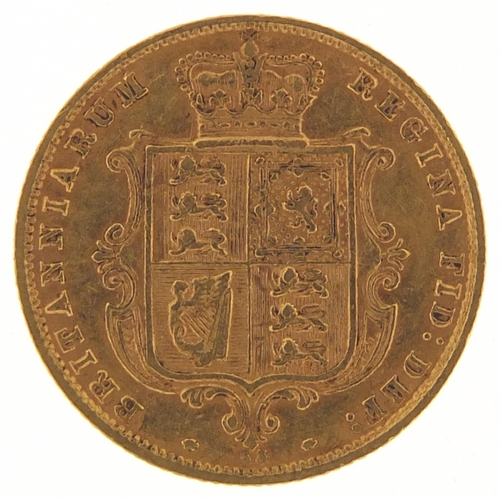 Victoria Young Head 1876 shield back gold half sovereign - this lot is sold without buyer's premium, the hammer price is the price you pay