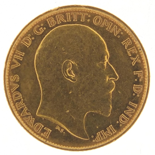 536 - Edward VII 1907 gold half sovereign, Melbourne mint - this lot is sold without buyer's premium, the ...